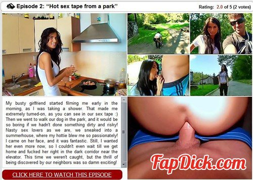 CashForSexTape.Com - Nessa Devil and Martin - Hot sex tape from a park [SD]