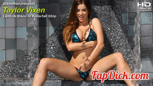 BikiniRiot.com - Taylor Vixen - Lipstick Bikini in Waterfall Strip [HD 720p]