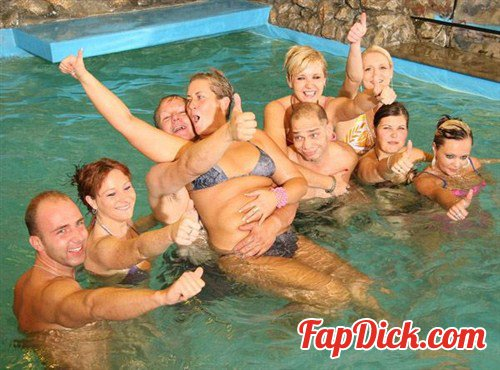 TeenageGroupSex.com - Alice - Champagne in the swimming pool [FullHD 1080p]