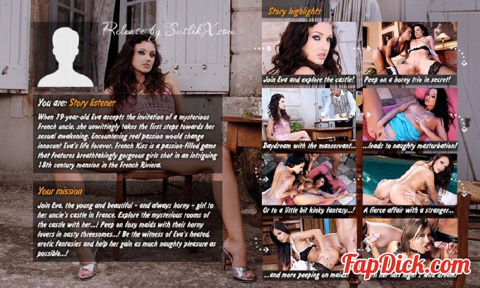LifeSelector.com - Zafira, Lulu Martinez, Black Angelika, Aletta Ocean, Sandra B. - French Kiss [SD/Flash 360p]