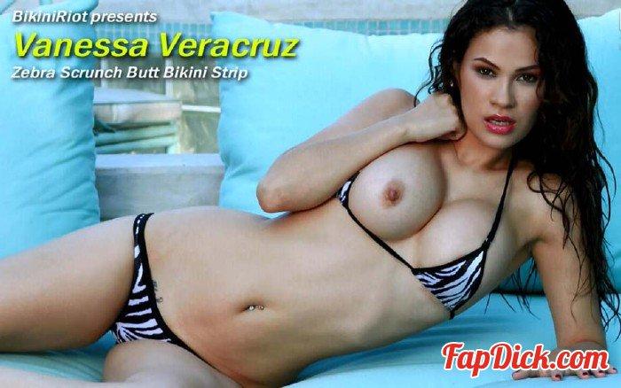 BikiniRiot.com - Vanessa Veracruz - Zebra Scrunch Butt Bikini Strip [HD 720p]
