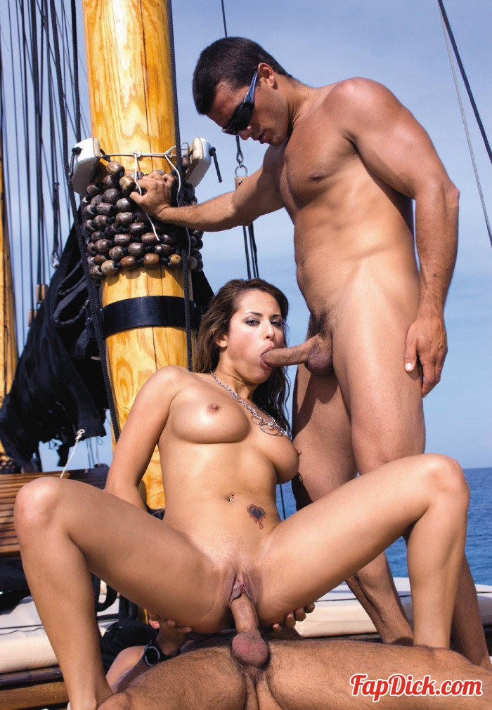 Private.com - Regina Ice - Beautiful Regina Ice and Threesome in a Pirate Ship [SD 400p]