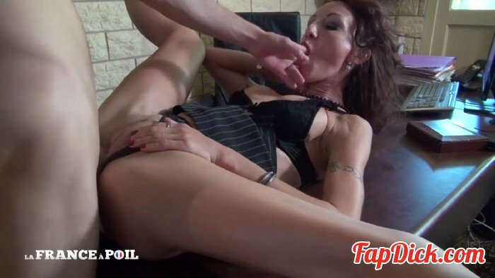 LaFranceaPoil - Lyna - Horny big titted CEO cougar gets her ass pounded and her pussy fisted by her employee ! [HD 720p]